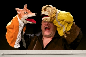 Klappmaulfiguren Fuchs und Uhu in